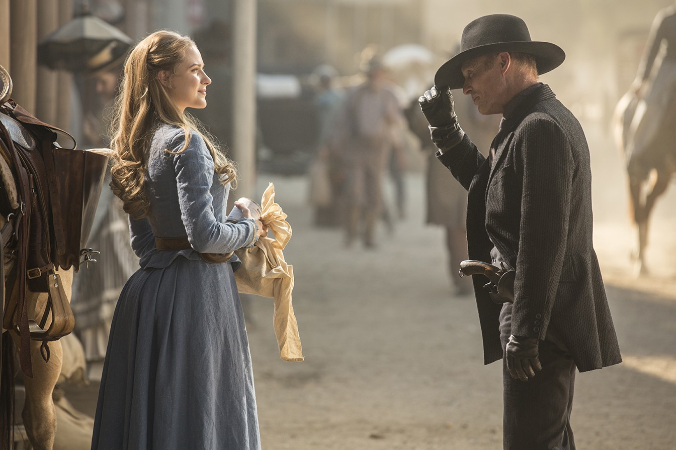 Dolores meets Man in Black Westworld Episode 1 The Original
