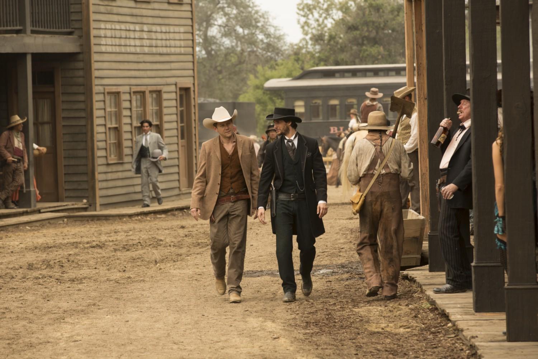 William Logan walking Chestnut Episode 2 Westworld