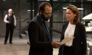 Bernard, Theresa, and Dr. Ford in Westworld