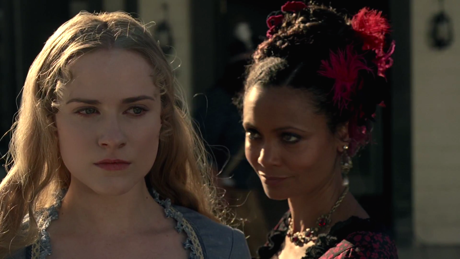 Dolores Abernathy and Maeve Millay in Westworld