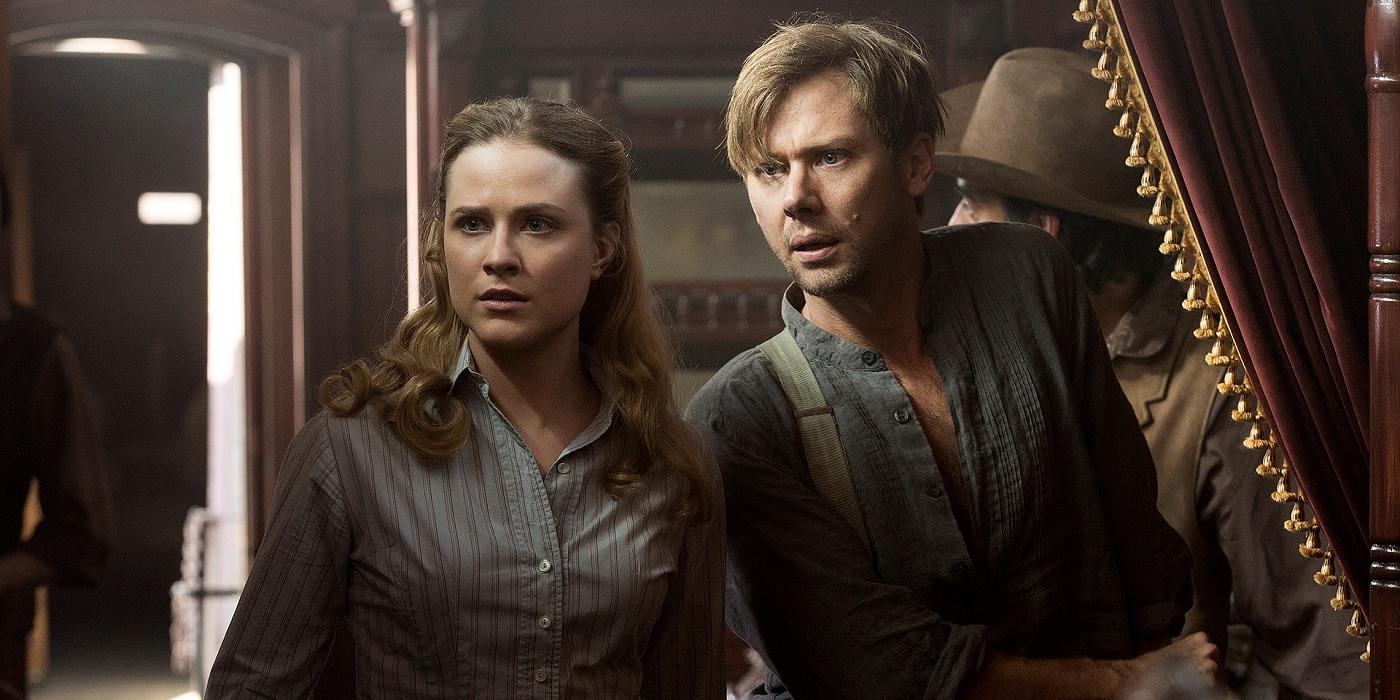Jimmi Simpson-as William and Evan Rachel Wood as Dolores Abernathy in Westworld episode 107