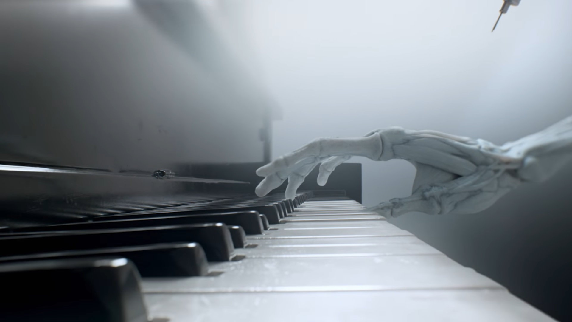 Ramin Djawadi skeletal hands Westworld opening credits