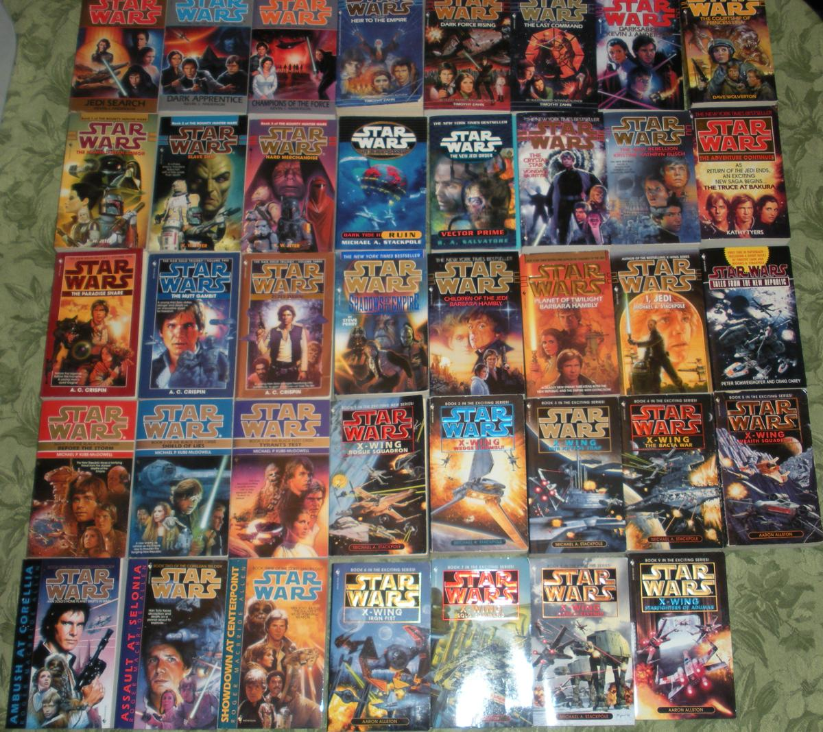 Just a tiny sliver of the original Star Wars Expanded Universe
