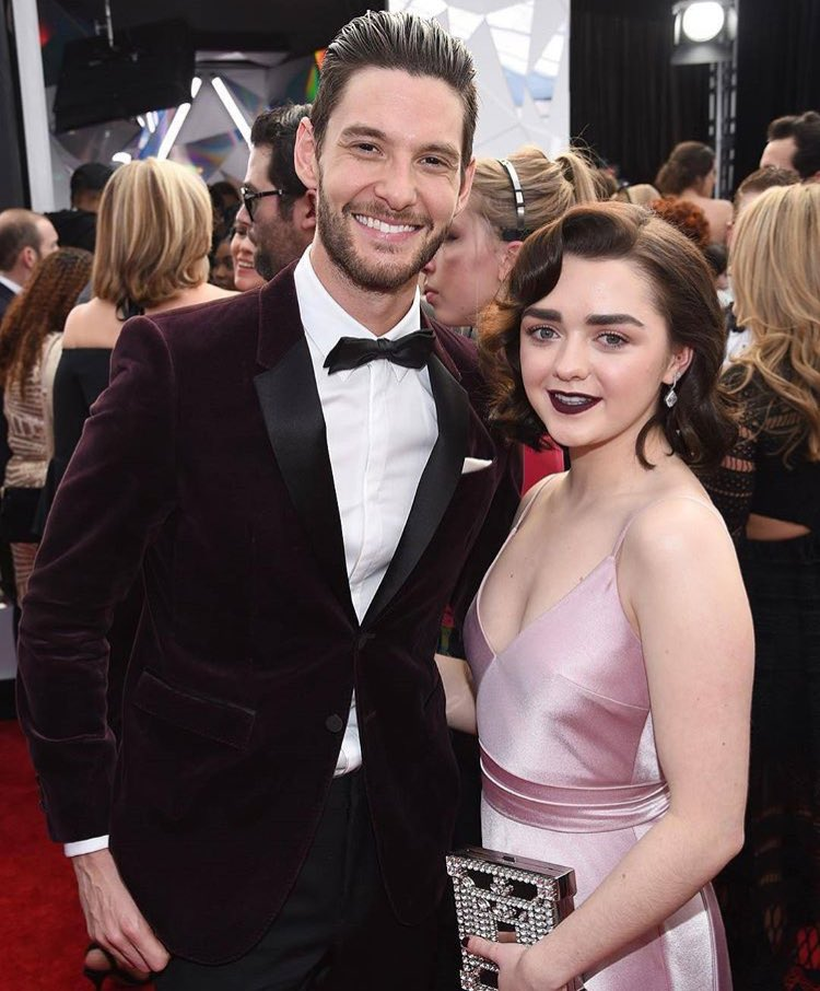 Westworld's Ben Barnes with Game of Thrones's Maisie Williams SAG Awards 2017