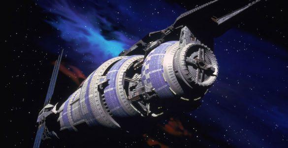 The Babylon 5 space station from Babylon 5