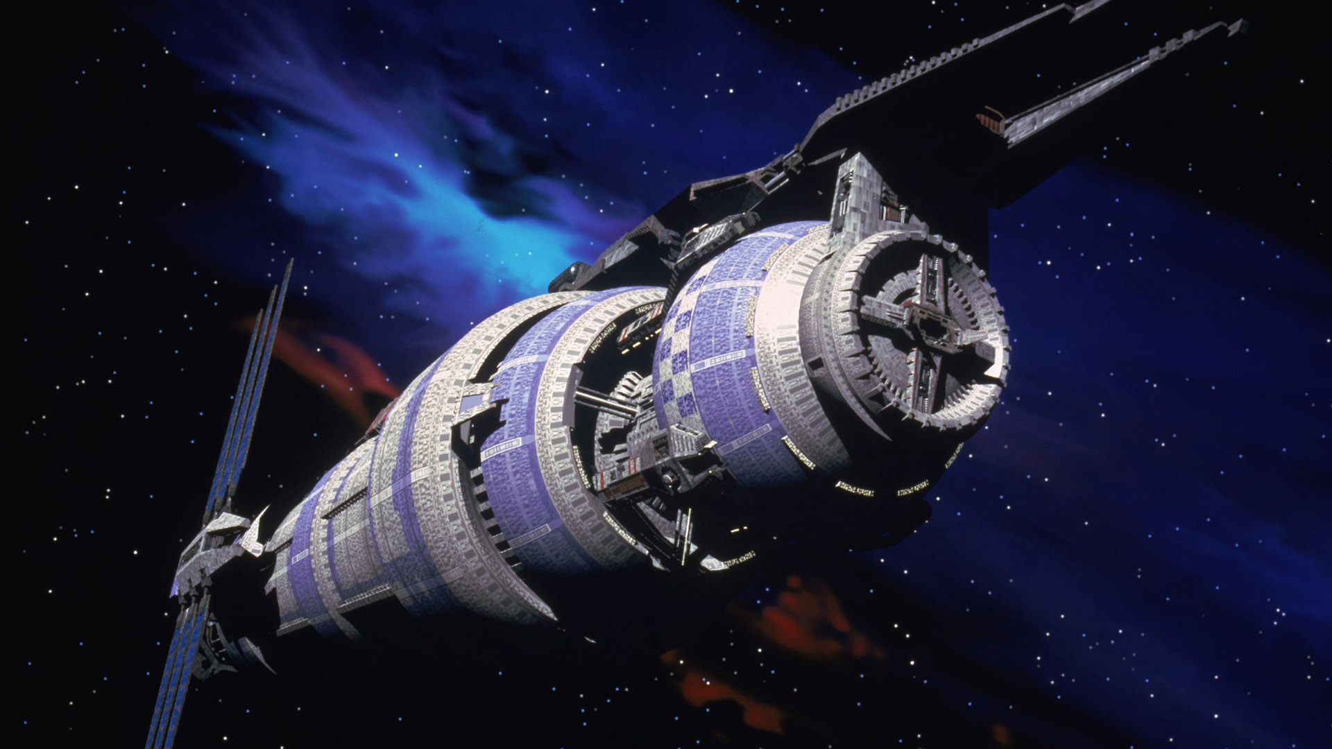 The Babylon 5 space station from Babylon 5