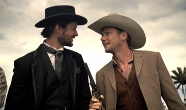 Ben Barnes as Logan and Jimmi Simpson as William in HBO's Westworld