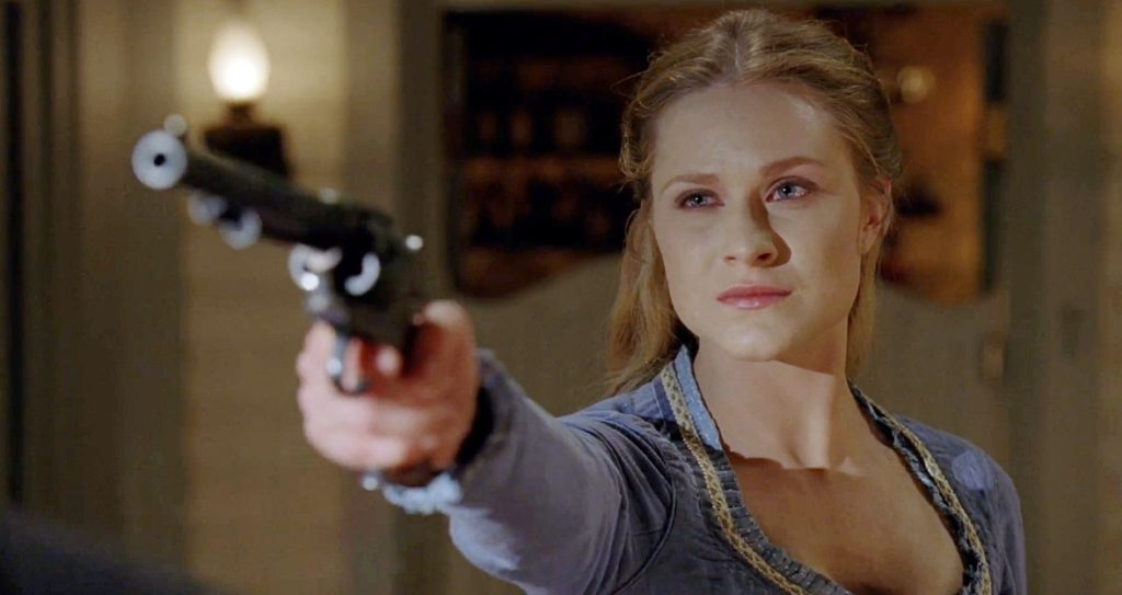 Dolores Shoots Ford in Westworld