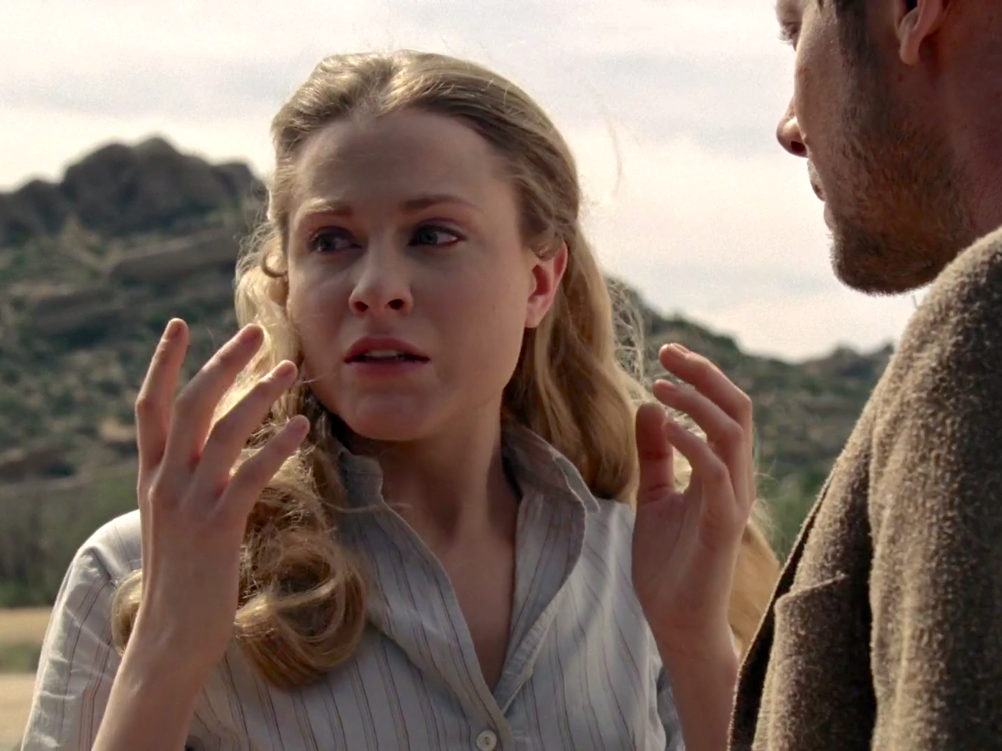 Dolores and William in Westworld