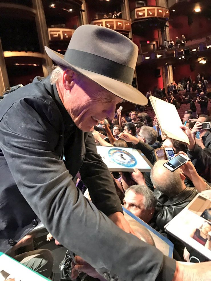 Ed Harris with fans at PaleyFest