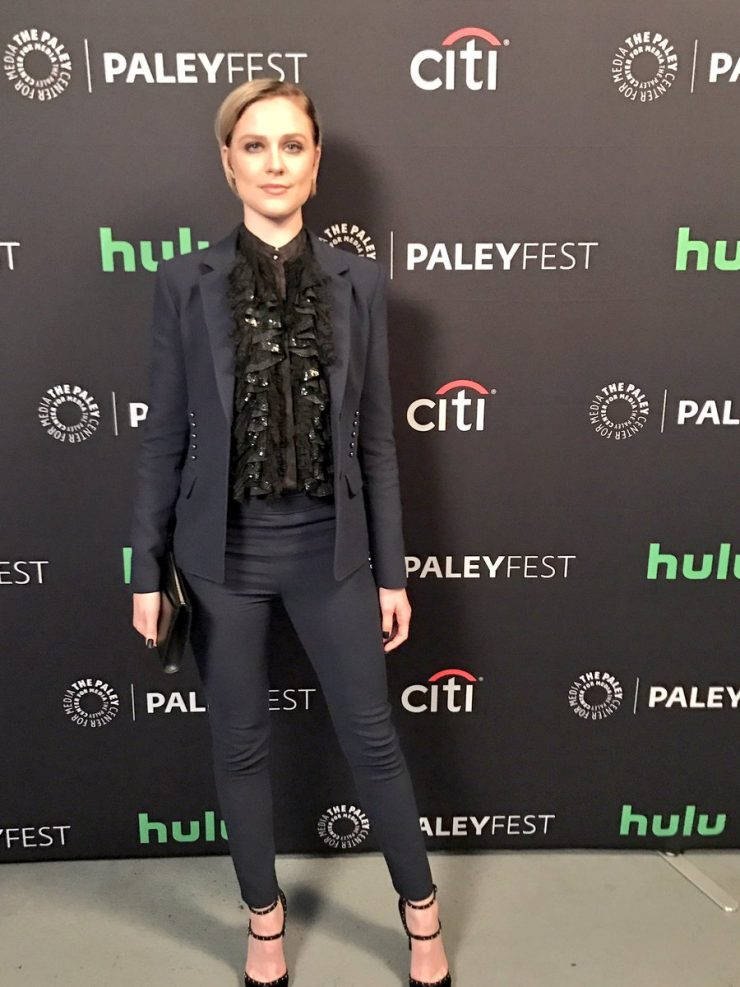 Evan Rachel Wood arrives at PaleyFest