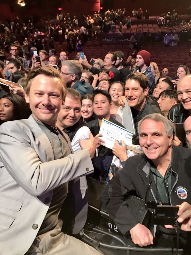 Jimmi Simpson with fans at PaleyFest