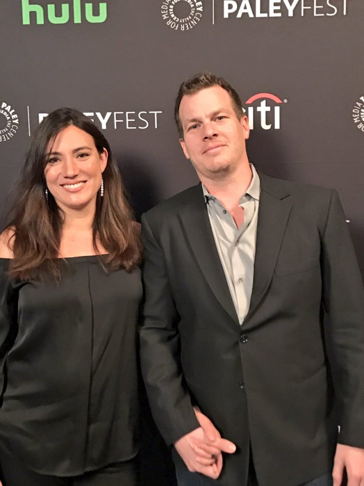 Lisa Joy and Jonathan Nolan arrive at PaleyFest