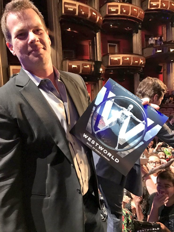 Jonathan Nolan with fans at PaleyFest