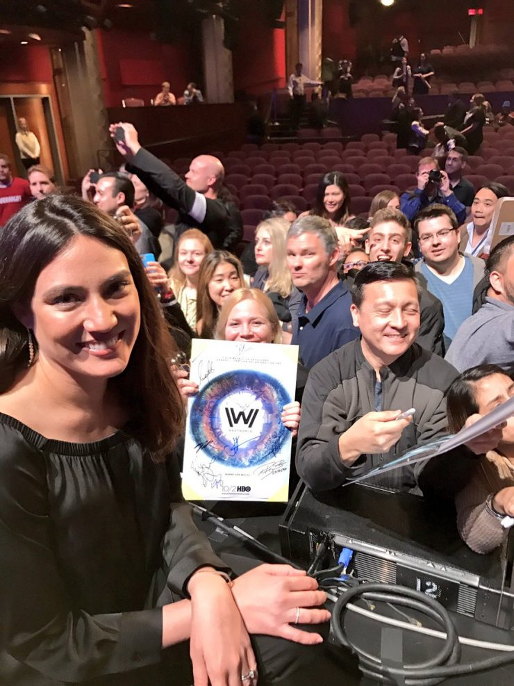 Lisa Joy with fans at PaleyFest