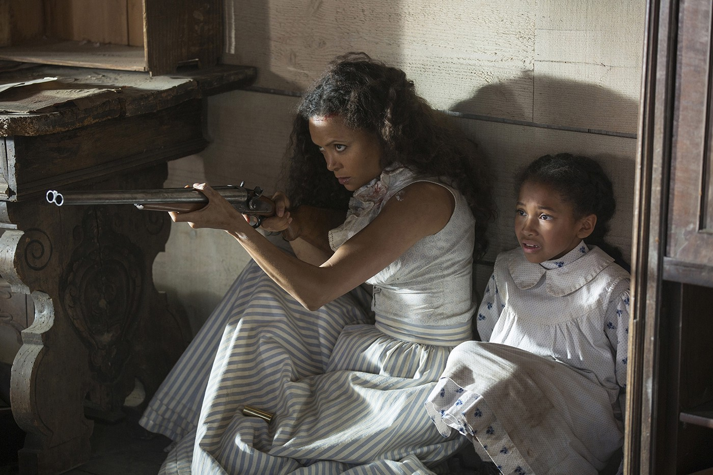 Maeve and Daughter on Westworld