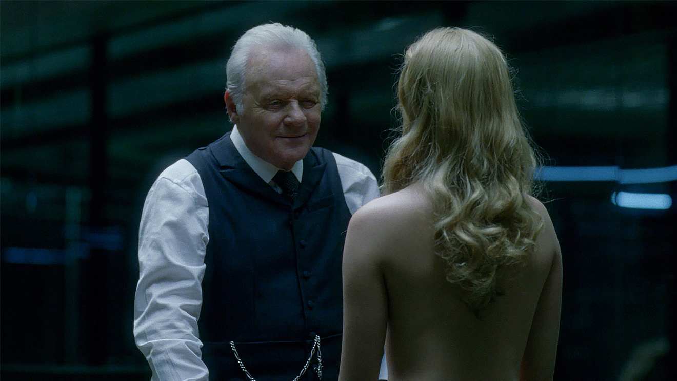 Dr Robert Ford and Dolores Abernathy on Westworld