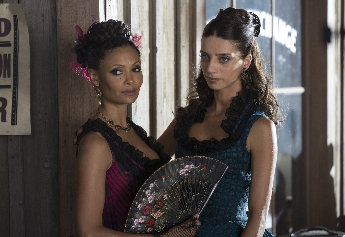 Maeve and Clementine on Westworld
