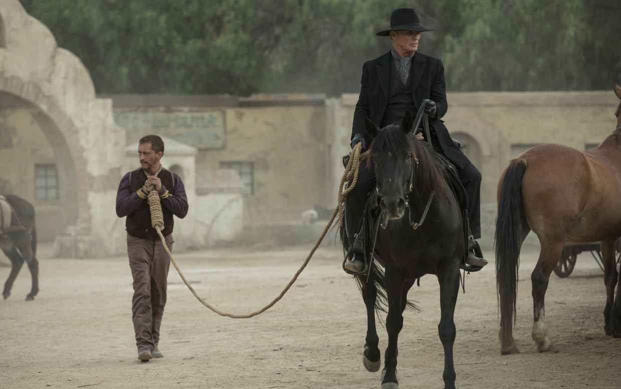 Man in Black and Lawrence in Westworld