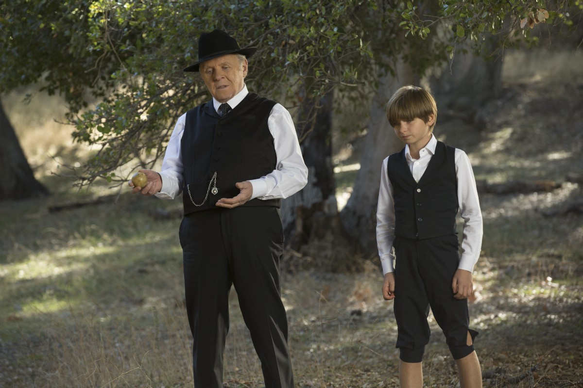 Dr Ford and Yound Ford on Westworld