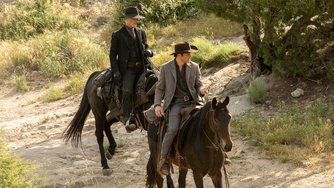 Man in Black and Teddy on Westworld